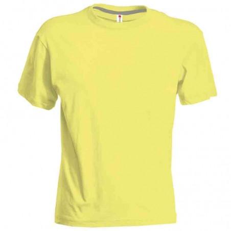 T-shirt Tricolore girocollo con bordi tricolore a contrasto
